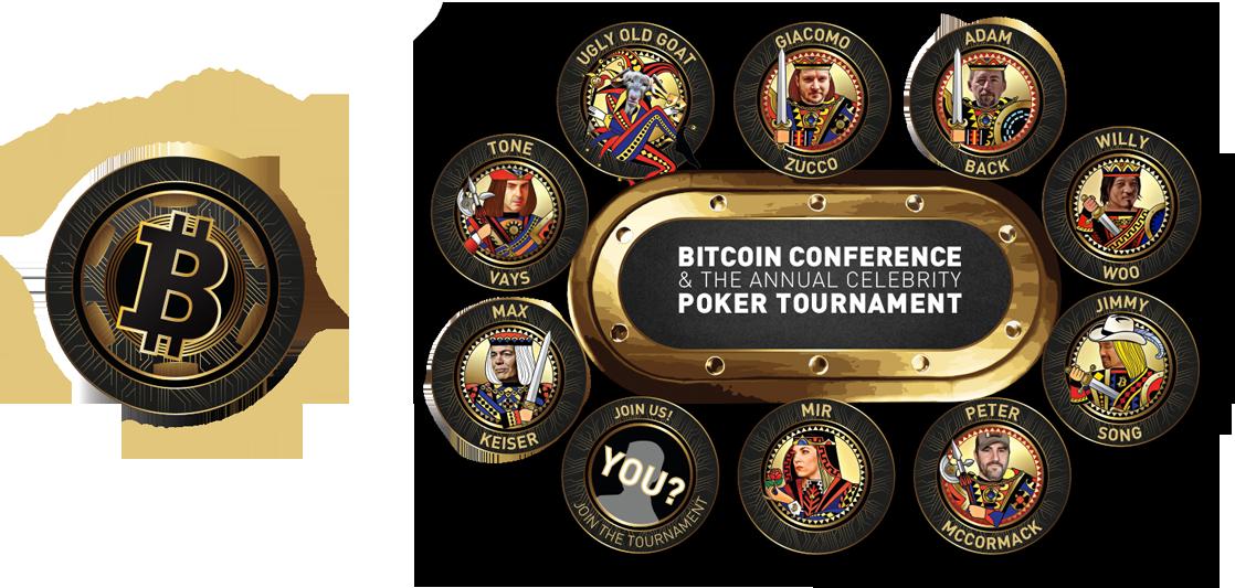 Imagen del poker de  Unconfiscatable con las estrellas de Bitcoin